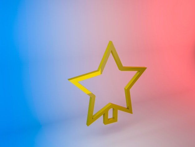 Illustration 3d De L'icône étoile De L'arbre De Noël Sur Un Fond Dégradé Photo gratuit