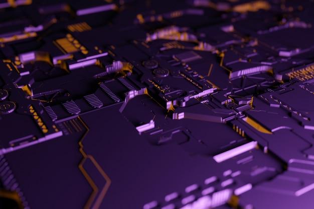 Illustration 3d D'un Modèle Réaliste D'un Robot Ou D'une Cyber-armure. Photo Premium