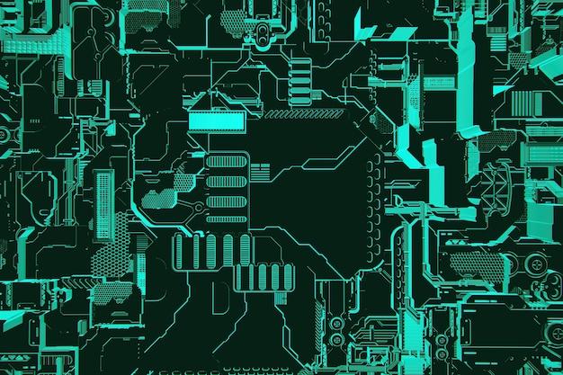Illustration 3d D'un Motif Sous La Forme D'un Métal, Placage Technologique D'un Vaisseau Spatial Ou D'un Robot. Graphiques Abstraits Dans Le Style Des Jeux Informatiques. Photo Premium