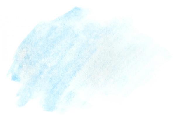 Illustration aquarelle sous la forme d'un coup de couleur humide, laissant dans la transparence Photo Premium