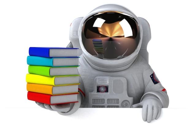 Illustration De L'astronaute Amusant Photo Premium