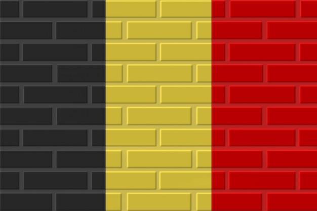 Illustration De Drapeau De Brique De Belgique Photo Premium