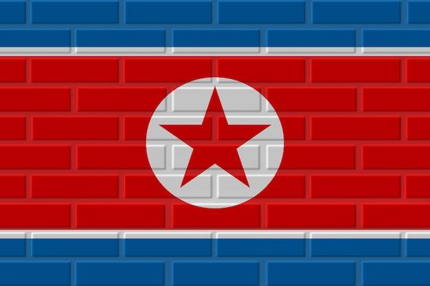 Illustration De Drapeau De Brique De Corée Du Nord Photo Premium