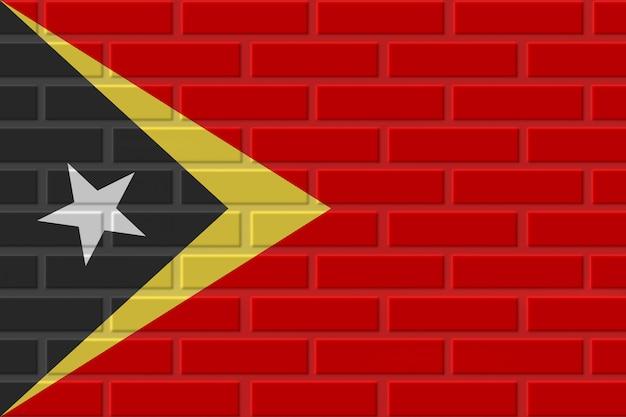 Illustration De Drapeau De Brique Du Timor Oriental Photo Premium