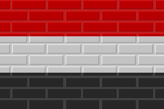 Illustration De Drapeau De Brique Du Yémen Photo Premium