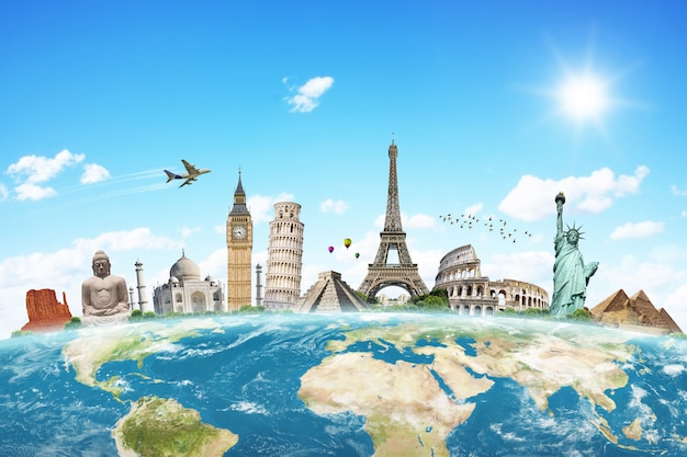 Illustration du célèbre monument du monde Photo Premium