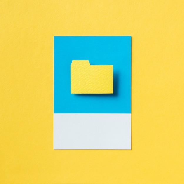 Illustration de l'icône du dossier de document Photo gratuit