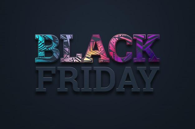 Illustration de lettrage vente vendredi noir Photo Premium