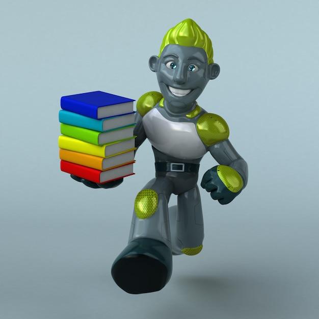 Illustration De Robot Vert Photo Premium