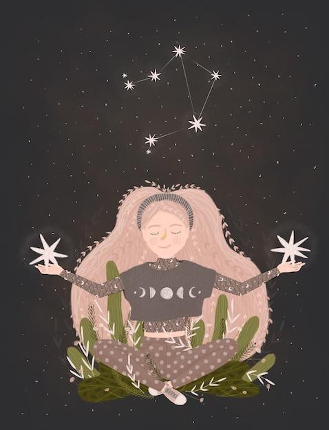Illustration De Signe Du Zodiaque. Photo Premium