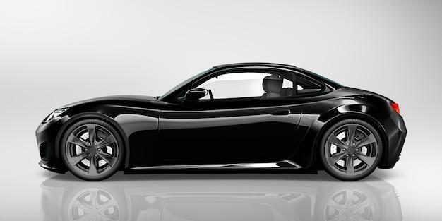 Illustration d'une voiture noire Photo Premium