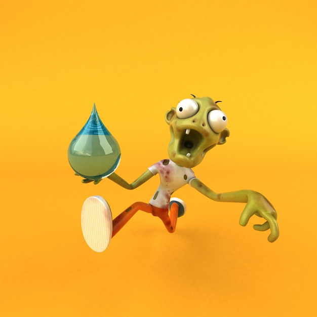 Illustration De Zombie Amusant Photo Premium