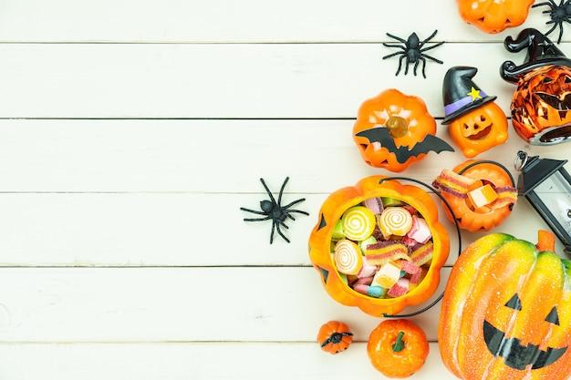 Image de décorations happy halloween jour fond vacances concept. Photo Premium