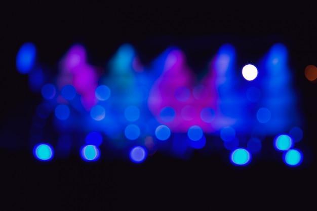 Image de fond avec lumières de la scène floues défocalisés Photo Premium