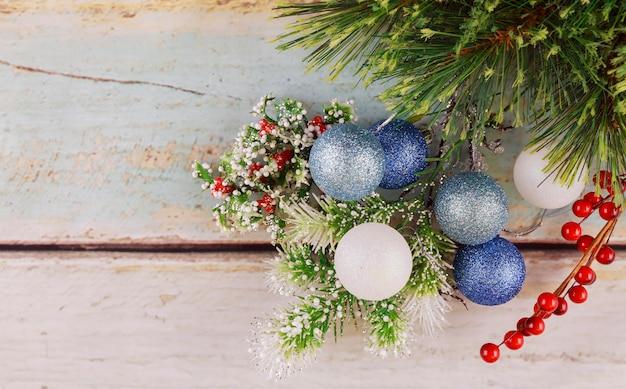 Image De Gros Plan De Décorations De Noël Photo Premium
