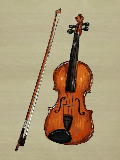 Image de peinture au violon Photo gratuit