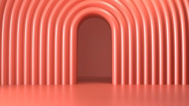 Image De Rendu De Fond Géométrique Abstrait De Couleur Rose Photo Premium
