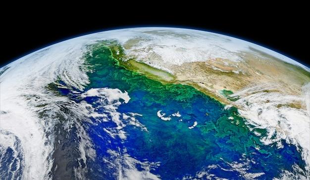 Image Satellite De La Terre. Original De La Nasa. Amélioré Numériquement Par Rawpixel. | Image Gratuite Par Rawpix Photo gratuit
