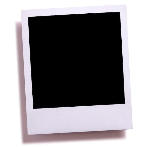 Impression de photo caméra instantanée vide isolé sur blanc avec une ombre. Photo Premium
