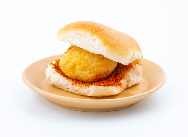 Indien célèbre street food vada pav Photo Premium