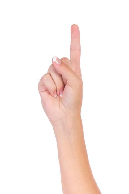 Indiquant une main avec les doigts nombre Photo gratuit