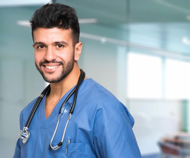 Infirmière souriante Photo Premium