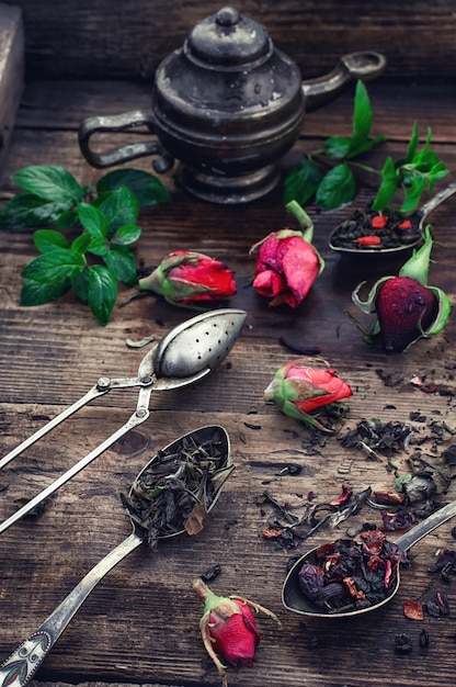 Infusion de thé parfumée Photo Premium