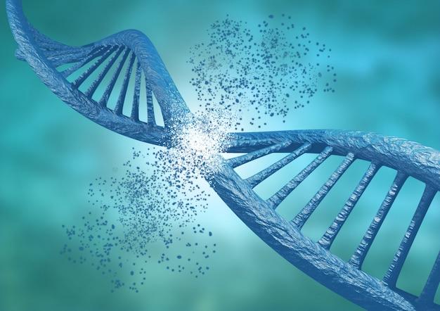 Ingénierie et édition génétique par la technique crispr. rupture de la chaîne d'adn Photo Premium