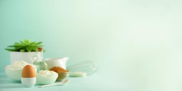 Ingrédients de cuisson sains Photo Premium