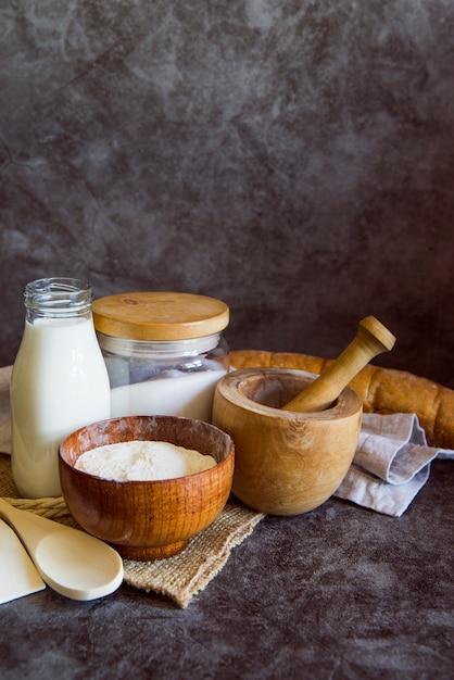Ingrédients de pain avec espace de copie Photo gratuit