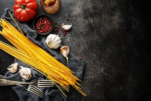 Ingrédients Pour Cuisiner Cuisine Italienne Photo Premium