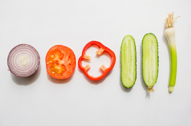Ingrédients Sains Inclus Dans Une Salade Photo gratuit