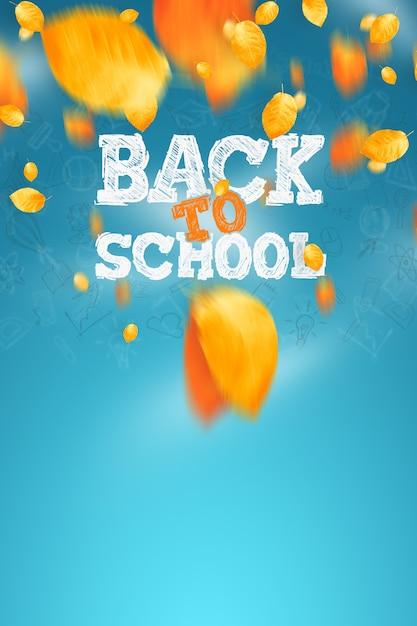 Inscription retour à l'école, éléments d'éducation. , affiche à vendre Photo Premium