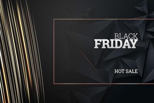 Inscription vendredi noir sur fond sombre Photo Premium