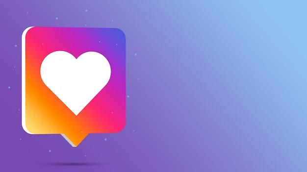 Instagram Comme Logo Sur Bulle De Dialogue 3d Photo Premium