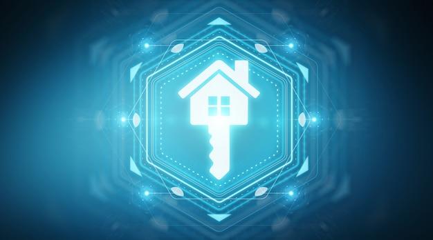 Interface numérique immobilière Photo Premium