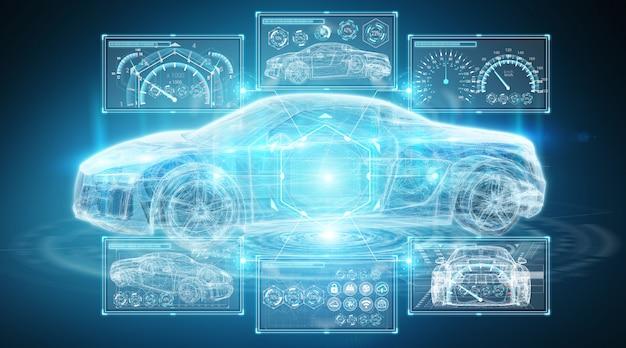 Interface de voiture intelligente numérique moderne Photo Premium