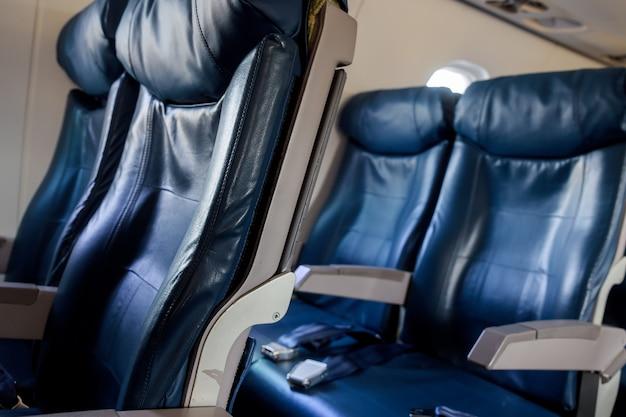 Intérieur de l'avion. la cabine d'avion de passagers moderne. Photo Premium