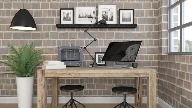 Intérieur de bureau moderne 3d télécharger des photos gratuitement