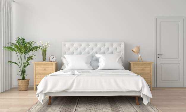 int rieur de la chambre blanche t l charger des photos premium. Black Bedroom Furniture Sets. Home Design Ideas