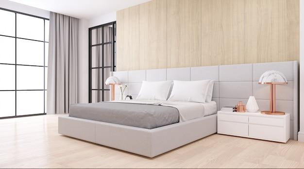 Interieur De La Chambre A Coucher Avec Style Minimaliste Moderne