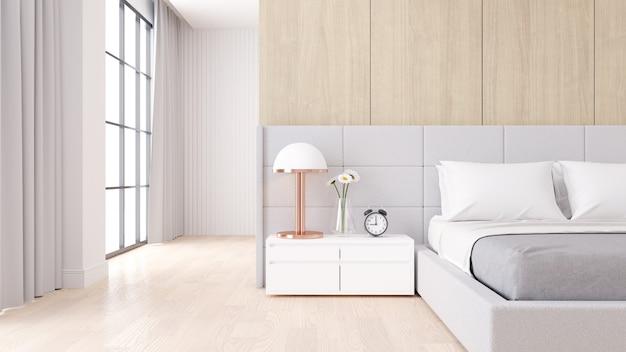 Intérieur de chambre à coucher avec style minimaliste moderne Photo Premium