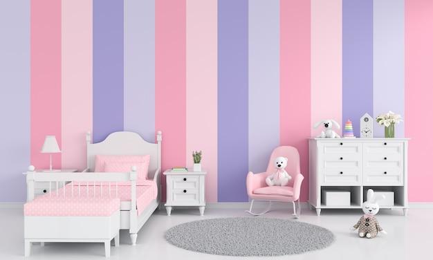 Intérieur de chambre fille Photo Premium