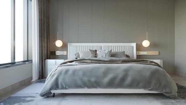 Intérieur De La Chambre De Style Moderne Avec Décoration Murale Photo Premium