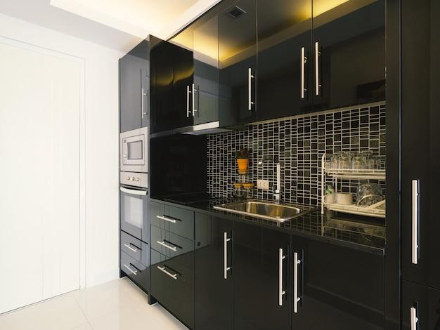 Interieur De Cuisine De Style Moderne Dans La Maison Moderne Avec