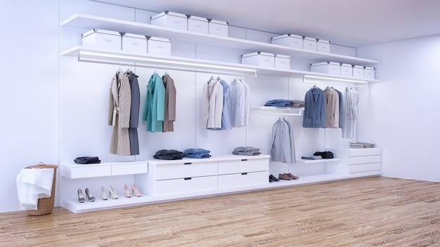 Intérieur de dressing minimaliste moderne Photo Premium