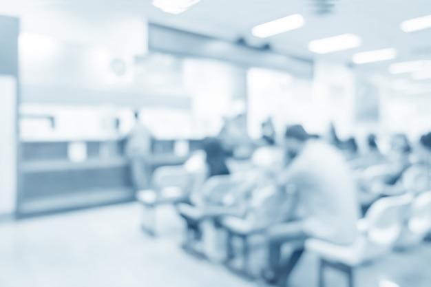 Intérieur flou de dispenser à l'hôpital - abstrait médical. Photo Premium