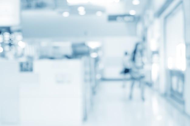 Intérieur flou de dispenser à l'hôpital Photo Premium