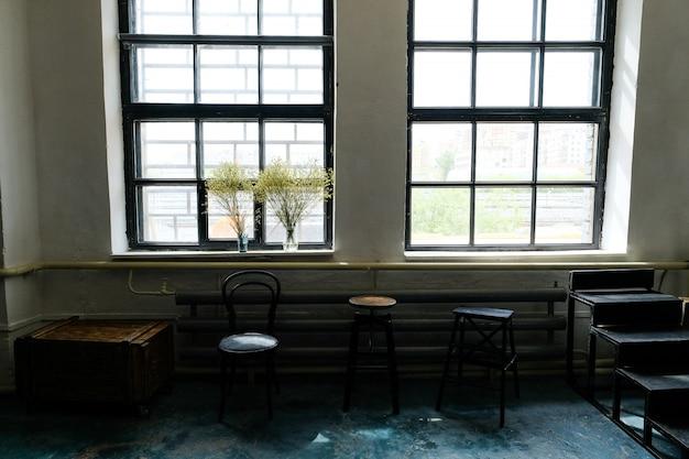 Intérieur loft élégant du studio. Photo Premium