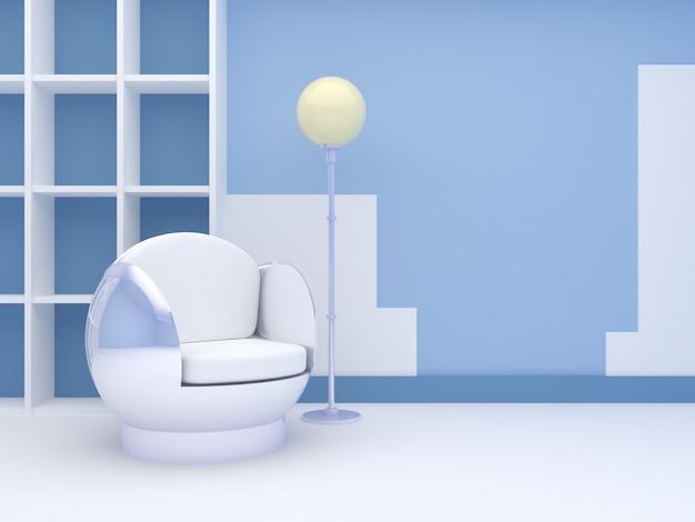 Intérieur moderne avec chaise ronde Photo Premium